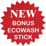 bola cuci ecowash gratis bonus ecostick stick penghilang noda